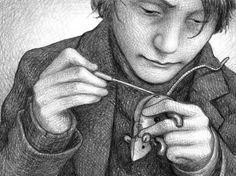 "illustration from ""The Invention of Hugo Cabret"" by Brian Selznick"