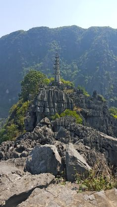 On the top of a mountain, Ninh binh, Vietnam