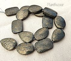 Items similar to Large flat pyrite beads, assorted shapes, 16 inch strand, fools gold on Etsy Fool Gold, Stone Beads, Shapes, Personalized Items, Unique Jewelry, Handmade Gifts, Flat, Etsy, Kid Craft Gifts