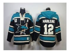 nhl jerseys san jose sharks  12 marleau black-green(pullover hooded  sweatshirt) 8b67191a0