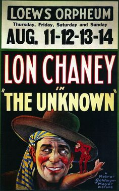 1927 - THE UNKNOWN - Tod Browning