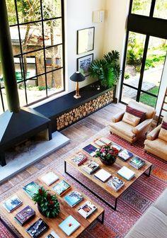 Idea for Firewood Storage Design Casa Rock, Interior Architecture, Interior And Exterior, Interior Windows, Interior Modern, Storage Design, Storage Ideas, Home Fashion, Home Living Room