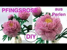 PFINGSTROSE aus Glasperlen. Anna's Perlen. DIY: PERLENBLUMEN selber basteln - YouTube