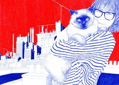 """Carine Brancowitz is a talented Paris-based illustrator that uses a set of biro pens as her """"weapons of choice"""".  More illustrations via Pell Mell"""