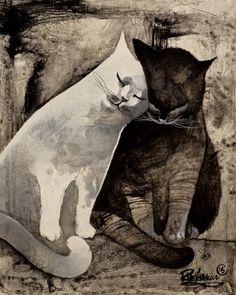 ❧ Illustrations chats ❧ 2 by Raphaël Vavasseur                                                                                                                                                     More