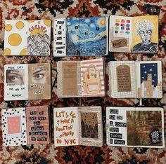:)) my insta Bullet Journal Writing, Bullet Journal Ideas Pages, Bullet Journal Inspiration, Art Journal Pages, Art Journals, Bullet Art, Arte Sketchbook, Bullet Journal Aesthetic, Art Diary