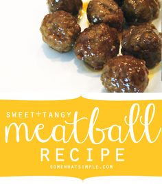 This sweet + tangy meatball recipe looks delicious! Quick and Easy cook in oven keep warm in crockpot. Meatball Recipes, Meat Recipes, Crockpot Recipes, Cooking Recipes, Meatball Sauce, Appetizer Dips, Yummy Appetizers, Appetizer Recipes, Kitchens