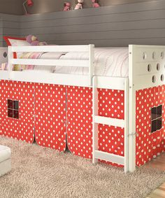 Look what I found on #zulily! Red & White Polka Dot Twin Loft Bed & Tent Kit #zulilyfinds