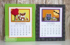 2016 Calendar by Kerri Michaud #tayloredexpressions #stampsanddies #calendarcritters #calendarideas