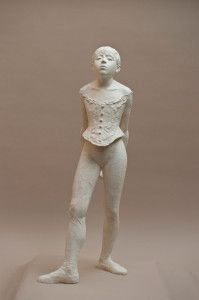 The Valsuani plaster Little Dancer is a heavier, more muscular figure, standing with hips squared and weight distributed equally on both feet. Degas Little Dancer, Edgar Degas, Plaster, Van, Sculpture, Statue, Plastering, Plaster Of Paris, Sculpting