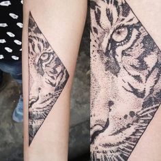 Image result for tiger triangle tattoo