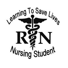 student nurse vinyl window decal