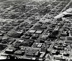 Aerial view of a Ford tri-motor over Phoenix :: Arizona Aviation History - The Ruth Reinhold Collection