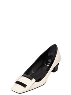 ROGER VIVIER 45MM BELLE VIVIER TWO TONE LEATHER PUMPS - LUXURY SHOPPING WORLDWIDE SHIPPING - FLORENCE