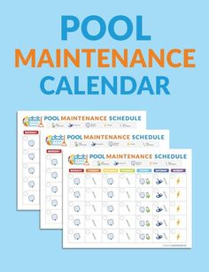 Library For Pool and Hot Tub Owners Print this handy calendar and put on your fridge so the whole family can help you take care of the pool this season.Print this handy calendar and put on your fridge so the whole family can help you take care of the pool Above Ground Pool, In Ground Pools, Aqua Blue, Swimming Pool Maintenance, Pool Hacks, Pool Care, Intex Pool, Pool Chemicals, Houses