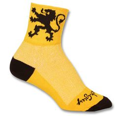 Lion of Flanders Socks by SockGuy Unique Cycling Jerseys, Just For Fun, Biking, Lion, Socks, Guys, Leo, Bicycling, Motorcycles
