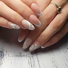 What Christmas manicure to choose for a festive mood - My Nails Glam Nails, Fancy Nails, Pink Nails, Pretty Nails, Toe Nail Art, Toe Nails, Acrylic Nails, Elegant Nail Designs, Gel Nail Designs