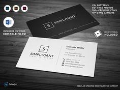 Simple Minimal Business Cards by Galaxiya Create Business Cards, Gold Business Card, Minimal Business Card, Simple Business Cards, Professional Business Cards, Business Card Design, Creative Business, Business Help, Free Business Card Templates