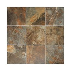 American Olean�15-Pack Kendal Slate Carlisle Black Glazed Porcelain Indoor/Outdoor Floor Tile (Common: 12-in x 12-in; Actual: 11.81-in x 11.81-in)