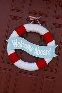 boating wreath idea