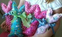 Tutorial and pattern: Easy bunny softie