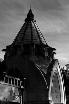 Artistic picture of the art nouveau elephant house at the Budapest Zoo, Hungary