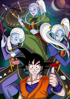 Goku, Cus, Vados, and Marcarita