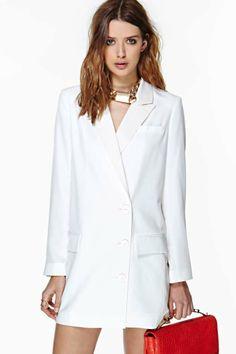 Pencey - Valedictorian Blazer Dress www.nastygal.com $278.00