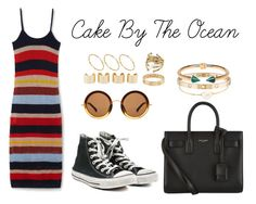 """Cake By The Ocean"" by anaelle2 ❤ liked on Polyvore featuring MANGO, Converse, mizuki, Yves Saint Laurent, The Row, Cartier, Rebecca Taylor, Maison Margiela and ASOS"