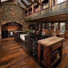 gorgeous log cabin interior