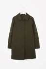 Long coat with large collar