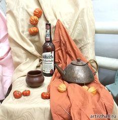 Натюрморт с антикварным чайником