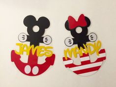 Personalized Mickey or Minnie Anchor - Disney Cruise Door Magnet by nickandjojo