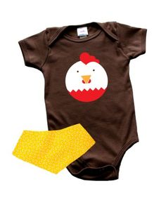 Unisex Colette Kids Francois Chicken Baby Bodysuit 2-Piece Gift Set (12-18 mos) - Colette Kids is a collection of hip, vibrant unisex designs for infants, toddlers and kids (0-6 years). We strive to offer today's modern parents fresh, age-appropriate apparel choices that are non-ge... - Bodysuits - Apparel - $27.99