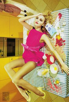 Caroline Trentini/ Vogue Italia 2008 and shot by Miles Aldridge