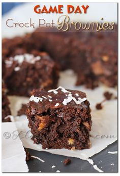 Game Day Crock Pot Brownies