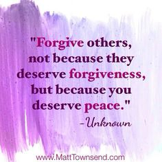 it is ok to agree to disagree, but in the end one must  always forgive...amen
