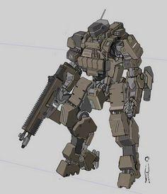 Military Mech - Imgur Robot Concept Art, Robot Art, Transformers, Fighting Robots, Lourdes, Mecha Anime, Robot Design, Conceptual Design, Shadowrun
