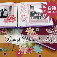 Mother's Day scrapbook album idea from creative memories. Give your mother a gift that will melt her heart. Click the photo get purchase.