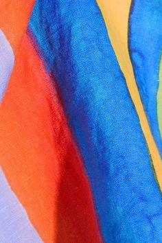 Mara Hoffman - Striped Organic Linen Top - Blue - x large