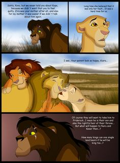 the heirs by on DeviantArt Lion King Story, Lion King Fan Art, Simba Disney, Disney Lion King, Lion King Drawings, Le Roi Lion, The Heirs, Disney Family, Disney Cartoons