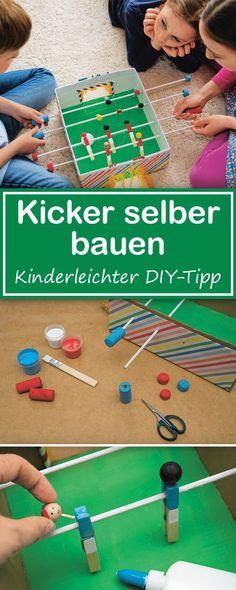 Einen Kicker bauen aus einem Schuhkarton! So geht's.