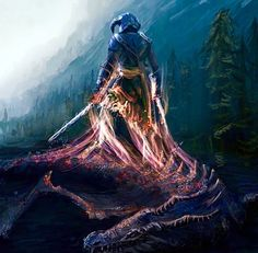 One of the coolest pieces of art I've ever seen for The Elder Scrolls V: Skyrim -- Dragon Slayer by mrainbowj (Geek Stuff Awesome) The Elder Scrolls, Elder Scrolls V Skyrim, Elder Scrolls Online, Video Game Art, Video Games, Skyrim Dragon, Dragonborn Skyrim, Arrow To The Knee, Dragon Slayer
