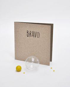 """Bravo - Carte Petits Mots en kraft découpé Collection """"Brindilles et bicyclette"""" - 2016 Ouistiti"""