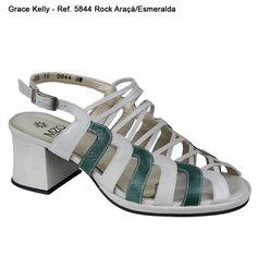Sandália  Grace Kelly   - Araçá / Esmeralda - 5844