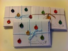 Button Christmas Card - Just on the off chance i have the time or desire to make cards this year :)