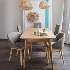 Table évolutive, 4 à 10 couverts, biface naturel La Redoute Interieurs | La Redoute