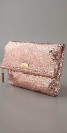 pink glitter clutch. Need.