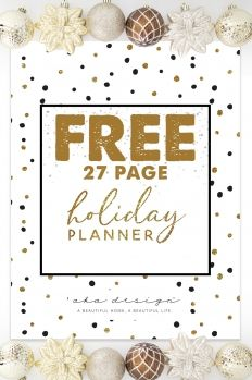 Free Holiday Planner Pack Printables Landing Page Subscribe