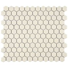 "Retro 7/8"" x 7/8"" Porcelain Glazed Mosaic in Matte Biscuit"